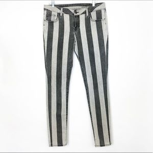 VANS Grey Striped Extremely skinny Jeans size 13